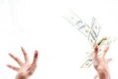 Ход 100 долларов счета Стоковые Изображения RF