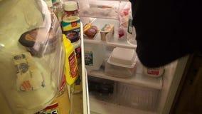 Холодильник, замораживатель, продукция, еда, хранение видеоматериал