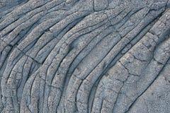 Холодная вулканическая текстура лавы Стоковая Фотография