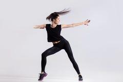 холодная девушка танцы Стоковое Изображение RF