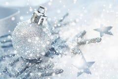 Холодная зимняя предпосылка рождества Стоковые Изображения RF