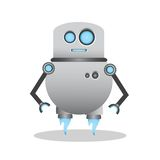 Холодная и милая иллюстрация робота 3d стоковые изображения