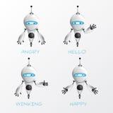 Холодная иллюстрация робота Стоковые Фото