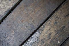 Холодная коричневая деревянная предпосылка для винтажной карточки Стоковое Изображение