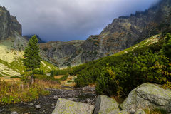 холодная малая долина Стоковые Изображения