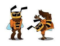Холодная пчела в 2 вариантах Стоковые Изображения