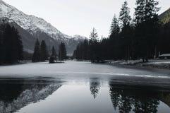 Холодное озеро Стоковое Фото
