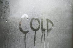 холодное окно Стоковые Изображения