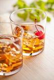 Холодное питье коктеиля лета с вишней Стоковая Фотография