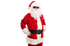 Холодное Санта с черными солнечными очками стоковые фотографии rf