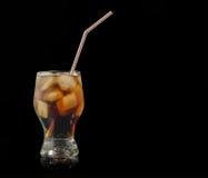 Холодное стекло coka с льдом Стоковые Изображения RF