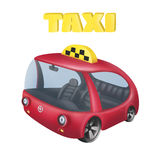 Холодное такси шаржа Иллюстрация штока