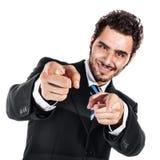 Холодный бизнесмен Стоковые Изображения RF