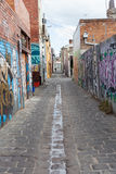 Холодный городской путь майны стоковое изображение