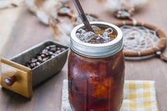 Холодный замороженный кофе эспрессо Стоковые Фотографии RF