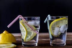 холодный лимон питья Стоковая Фотография