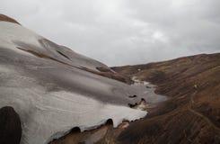 Холодный исландский ландшафт - Laugavegur, Исландия Стоковое Фото