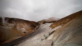 Холодный исландский ландшафт - Laugavegur, Исландия Стоковые Фотографии RF