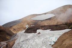 Холодный исландский ландшафт - Laugavegur, Исландия Стоковое Изображение RF
