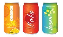 Холодный напиток может изолированный Стоковые Изображения