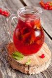 Холодный напиток ягоды лета (сок, коктеиль, чай плодоовощ) с мятой Стоковое фото RF