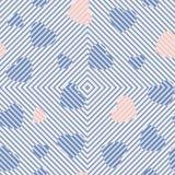 холодный орнамент сердец гаммы Стоковое Изображение RF