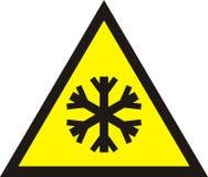 Холодный предупредительный знак, Стоковая Фотография RF