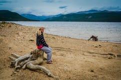 Холодный пляж - озеро бирюз - национальный лес Сан Изабеллы Стоковое Фото