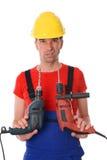 Холодный работник с 2 сверлами Стоковое Изображение