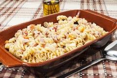 Холодный салат макаронных изделий Стоковое фото RF
