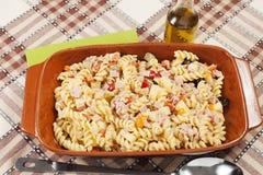 Холодный салат макаронных изделий Стоковая Фотография