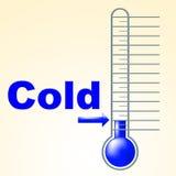 Холодный термометр показывает замораживание и замерзать термостата бесплатная иллюстрация