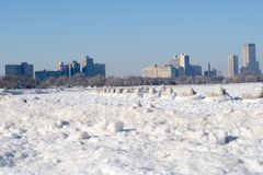 Холодный холодный пляж Стоковые Фото