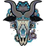 Холодный череп козы Стоковое Фото