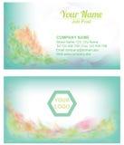 Холодный шаблон предпосылки Turqouish флористический абстрактный Businesscard Стоковые Изображения