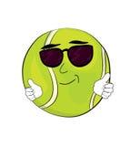 Холодный шарж теннисного мяча Стоковые Изображения