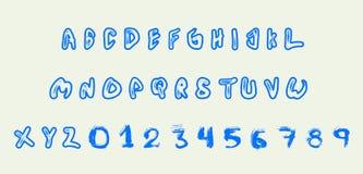 Холодный шрифт письма Стоковые Фото