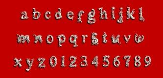 Холодный шрифт письма Стоковое Изображение