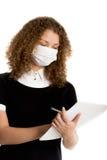 Холод работника офиса нося уловленный маской Стоковое Фото