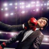 ход принципиальной схемы конкуренции бизнесмена дела портфеля Стоковые Фото