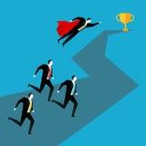 ход принципиальной схемы конкуренции бизнесмена дела портфеля Концепция гонки дела Стоковое Изображение RF
