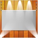Холстина и деревянная стена Иллюстрация вектора