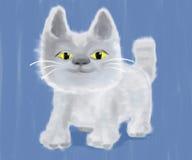 Холст картины маслом кота котенка акриловый Стоковое Изображение RF