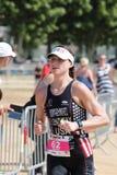 Ход тренировки спорта triathlete триатлона здоровый стоковые фотографии rf