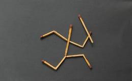 Ход человека ручки спички Стоковые Фото