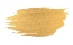 Ход щетки текстуры акварели золота Стоковое Фото