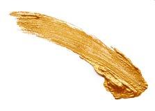 Ходы золотой краски Стоковое Изображение RF