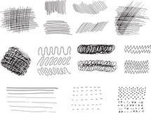 Ходы, линии и пятна Стоковое фото RF