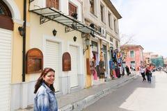 Ходящ по магазинам на Афинах, Греция стоковые изображения rf
