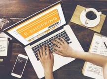 Ходя по магазинам концепция онлайн приобретения заказа покупая стоковое фото